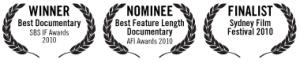 Strange Birds in Paradise film award laurels